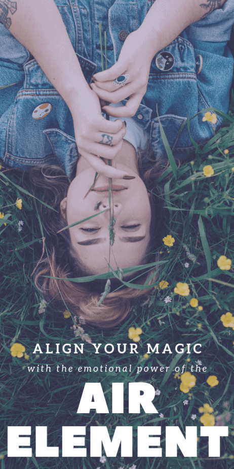 Align your magic with the emotional power of the air element in witchcraft. Herbs, pagan gods and goddesses, mythical creatures, and more things that are associated with elemental air. #witchcraft #witch #magick #pagan #wicca
