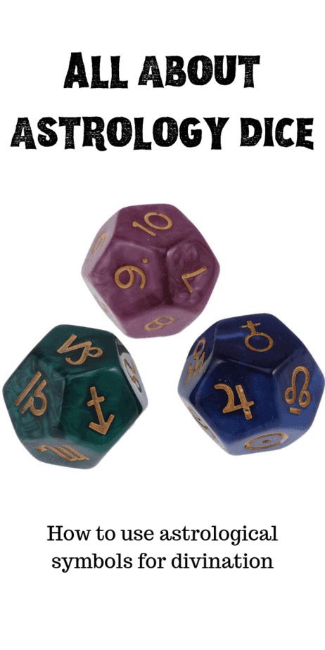 How To Read The Symbols On Astrology Dice: I recently started selling a little-known divination tool called Astrology Dice. These dice have astrological symbols on them and give simple but clear answers to questions. This unusual divination method uses three beautiful dice with different astrological symbols on them. This is perfect for witchcraft or use in divination rituals. Divination symbols. Dice divination techniques. #divination #witch #astrology #witchcraft #wicca #pagan #occult