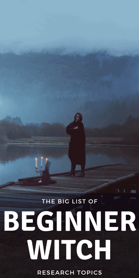 The BIG list of beginner witch research topics. #witchcraft #wicca #pagan #witch #occult #magick #magic #witchy #druid