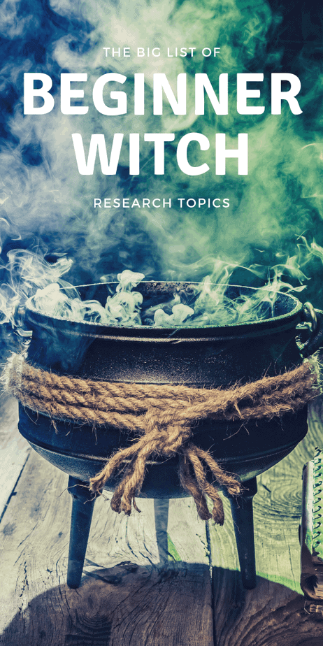 The BIG list of beginner witch research topics: If you're a beginner witch, you don't know what you don't know. Use this handy list to help guide your research and magick studies. Beginner witches love this huge list of research topics to learn more about witchcraft, paganism, magick, and the occult. What do you need to know to become a witch? Witchcraft isn't always easy, but this list can help you know what to research. #witchcraft #wicca #pagan #witch #occult #magick #magic #witchy #druid