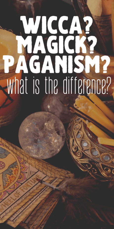What is the difference between witchcraft (magick), Wicca, and paganism? Find out in this informative blog post. All about the occult for beginners. #witchcraft #witch #pagan #wicca #paganism #wiccan #magick #occult #magic
