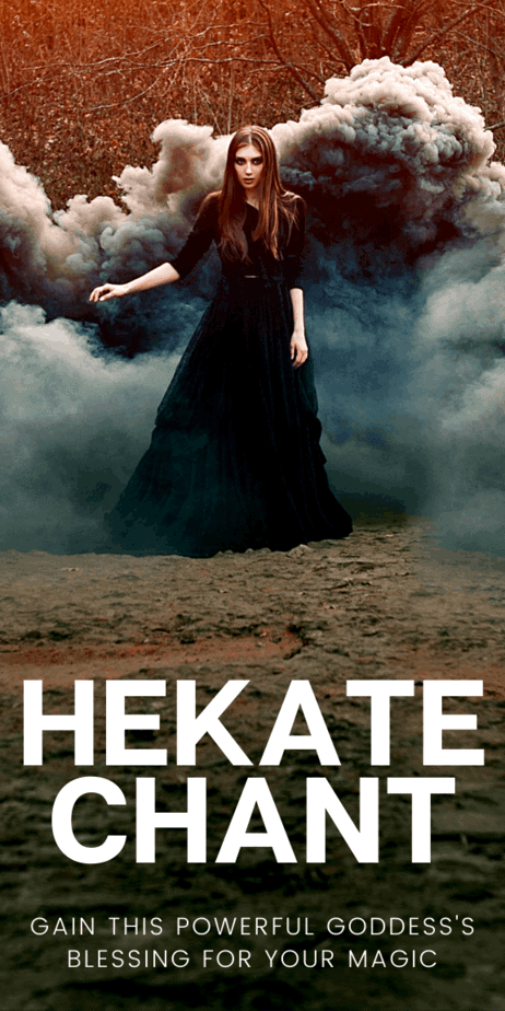 Learn about the mythology of Hekate. Plus, Hekate correspondences and offering ideas. What are the symbols of Hekate? What is the Hekate aesthetic? This Hekate chant will help you gain this goddess of witchcraft's blessing. Plus, ideas for Hekate incense. #hekate #goddess #witch #witchcraft #pagan #wicca #magic #magick #wiccan #paganism #myth #mythology #greek #hellenism #hellenic