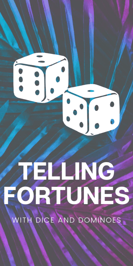 Telling fortunes with dice and dominoes is a great way to divine the future, and these two forms of divination are optimal for witches that are in the broom closet and can't reveal that they practice witchcraft. You can carry dice around with you and explain it away as tools for playing tabletop role playing games or tools for teaching math to kids. #psychic #fortunetelling #divination #prophecy #omens #wicca #pagan #witchcraft #witch