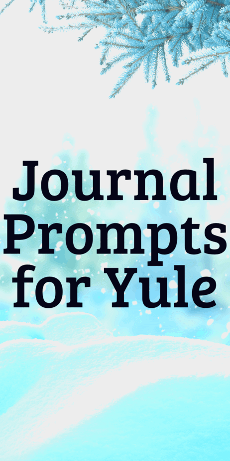 Journaling writing prompts for Yule. The perfect spirituality writing prompts. Bullet journal ideas. Journaling tips. Self care techniques. #yule #christmas #bulletjournal #journaling #writing #writingprompts #pagan #wicca #occult #witch #witchcraft #winter #journal #selfcare #bujo