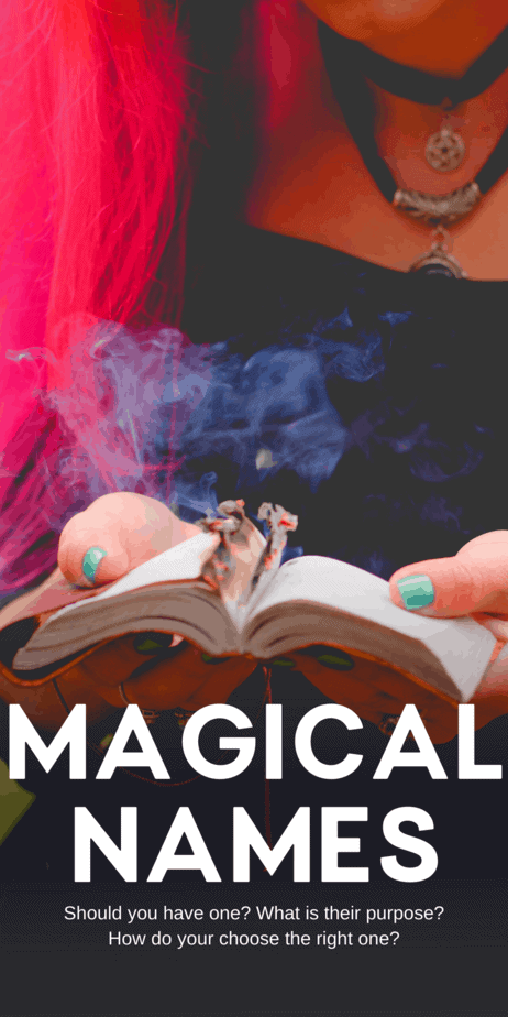 Why do witches choose magical names? Learn more about paganism, witchcraft, and the occult on Eclectic Witchcraft. The best names for witches and Wiccans. Magical names are popular because many of our favorite pagan authors use them as pen names. That makes magical names seem more common than they really are, and can convince baby occultists that they are obligated to have one too. #witch #witchcraft #names #pagan #paganism #wicca #wiccan #occult