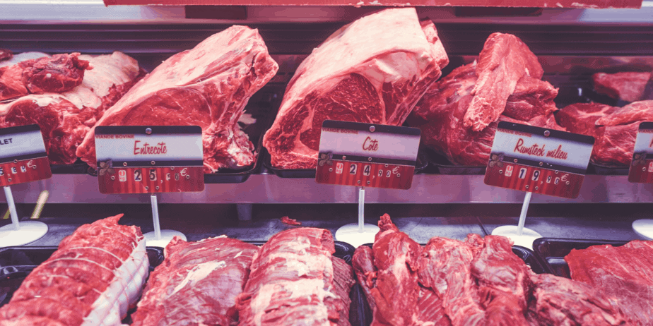 Meats at a meat counter