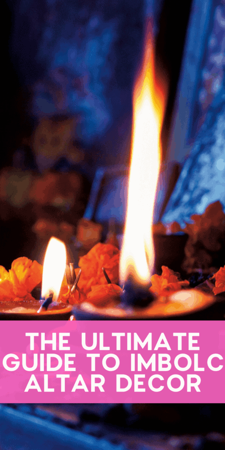 The Ultimate Guide to Imbolc Altar Decor. Find the flowers, herbs, symbols, and crafts that you should place on your altar for the pagan holiday Imbolc. Celebrate Brigid and the rebirth of the God of the Sun with this witch Sabbat in February! Imbolc animals. Imbolc stones. Imbolc sabbat. Imbolc info. Imbolc essential oils. Imbolc fire. Imbolc greetings. Feliz imbolc. Imbolc crown. Candlemas pagan. #imbolc #candlemas #pagan #wiccan #paganism #wicca #witch #sabbat #wheeloftheyear #holiday #flowers