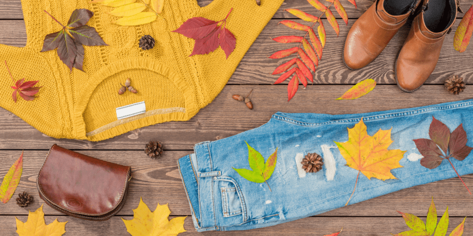Fall fashion flat lay