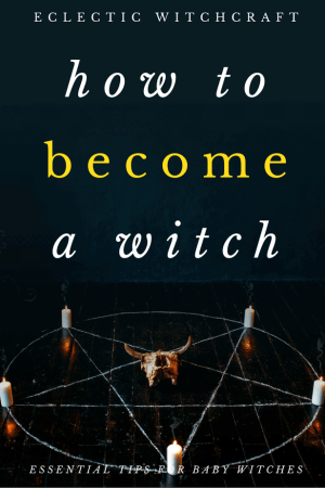 EVERYTHING you need to know to learn how to become a witch. #witch #witchcraft #pagan #wicca