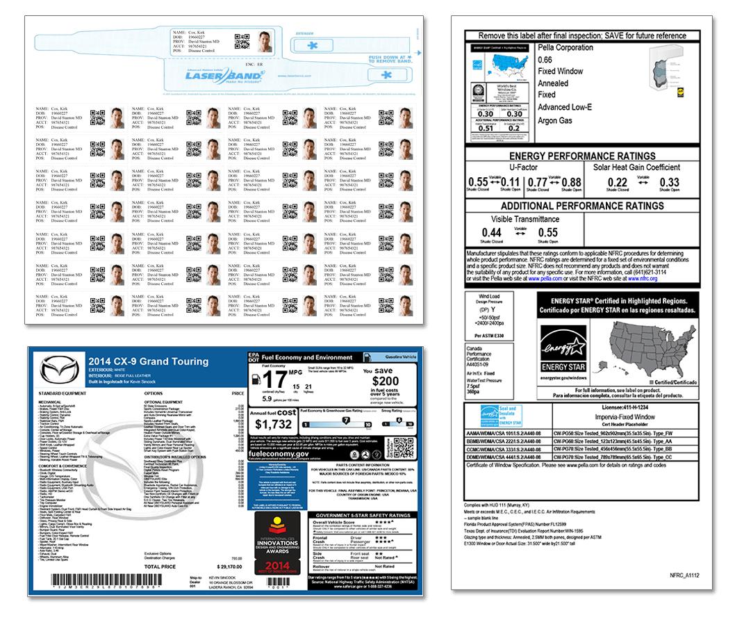 Labels Generated with DocOrigin label generating software