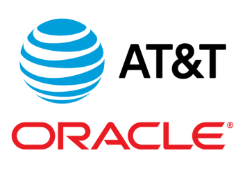 AT&T and Oracle Cloud logos