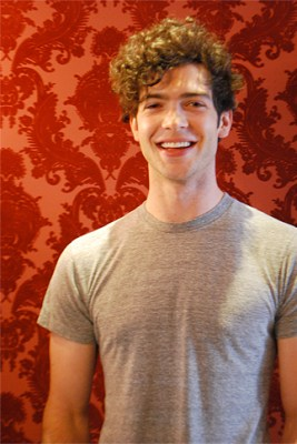 Ethan Peck at 25 Degrees restaurant.  Photo by Lauren Pon.