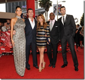 THE X FACTOR: L-R: Nicole Sherzinger, Simon Cowell, Paula Abdul, L.A. Reid and Steve Jones attend THE X FACTOR World Premiere Screening at the Arclight Cinerama Dome on September 14, 2011 in Hollywood, California. The two-night series premiere of THE X FACTOR airs on Wednesday, September 21 (8-10pm ET/PT) and Thursday, September 22 (8-10pm ET/PT) on FOX. (Photo by Frank Micelotta/PictureGroup for FOX)