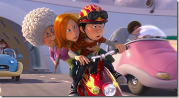 "(L to R) Grammy Norma (BETTY WHITE), Audrey (TAYLOR SWIFT) and Ted (ZAC EFRON) are on the race of their lives in ""Dr. Seuss' The Lorax"", a 3D-CG adventure from the creators of ""Despicable Me"" and the imagination of Dr. Seuss."