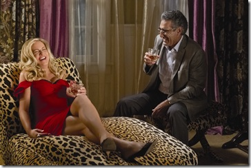 "Stifler's Mom (JENNIFER COOLIDGE) and Jim's Dad (EUGENE LEVY) finally meet in ""American Reunion"".  In the comedy, all the ""American Pie"" characters we met a little more than a decade ago return to East Great Falls for their high-school reunion."