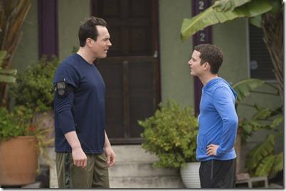 WILFRED: Episode 6: Delusion (Airs Thursday, July 18, 10:00 pm e/p). Pictured: (L-R) Chris Klein as Drew, Elijah Wood as Ryan. CR: Prashant Gupta/FX