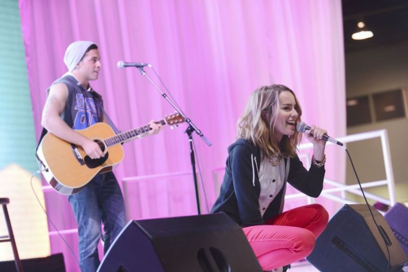 Bridgit Mendler at D23 Expo