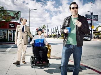 LEGIT (Series Premiere, Thursday, January 17, 10:30 pm e/p) -- Pictured: (L-R) Dan Bakkedahl as Steve, D.J. Qualls as Billy, Jim Jefferies as Jim -- CR: Matthias Clamer/FX