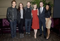 THE FOLLOWING TASTEMAKER EVENT: The cast (L-R): Kevin Bacon, Jessica Stroup, Shawn Ashmore, Valorie Curry, Sam Underwood and Tiffany Boone attend the screening of the premiere episode of The Following on Tuesday, Dec. 3 at The Tribeca Grand Hotel in New York City. CR: Andrew Marks/FOX