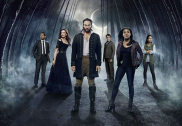 SLEEPY HOLLOW: Cast L-R: Orlando Jones, Katia Winter, Tom Mison, John Noble, Nicole Beharie and Lyndie Greenwood. SLEEPY HOLLOW Second Season premieres Monday, Sept 22 (9:00-10:00 PM ET/PT) on FOX. ©2014 Fox Broadcasting Co. CR: James Dimmock/FOX