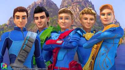 Thunderbirds Are Go - Scott, Virgil, Alan, Gordon and John