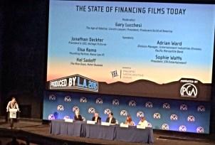 State of financing films-Jonathan Deckter, Elsa Ramo, Hal Sadoff, Adrian Ward, Sophie Watts; Moderator Gary Lucchesi
