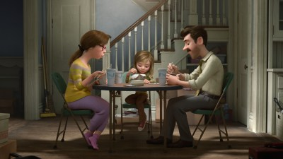 "WHAT ARE THEY THINKING? -- Pixar Animation Studios takes audiences inside the mind of 11-year-old Riley, who is uprooted from her Midwest life when her father starts a new job in San Francisco. Guided by her five Emotions - Joy (voice of Amy Poehler), Sadness (voice of Phyllis Smith), Fear (voice of Bill Hader), Disgust (voice of Mindy Kaling) and Anger (voice of Lewis Black) - Riley struggles to adjust, and when Fear, Disgust and Anger are left in control, even a simple family dinner takes an unexpected turn. Also featuring the voices of Diane Lane as Mom, Kaitlyn Dias as Riley and Kyle MacLachlan as Dad, Disney•Pixar's ""Inside Out"" opens in theaters nationwide June 19, 2015. ©2014 Disney•Pixar. All Rights Reserved."