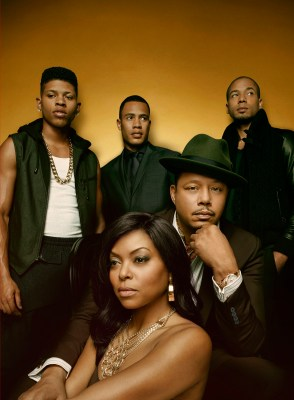 EMPIRE: The epic family battle begins when the sexy and powerful new drama EMPIRE debuts, with limited commercial interruption, following AMERICAN IDOL XIV on Wednesday, Jan. 7 (9:00-10:00 PM ET/PT) on FOX. Pictured Clockwise L: Bryshere Gray, Trai Byers, Jussie Smollett, Terrence Howard and Taraji P. Henson. ©2014 Fox Broadcasting Co. CR: Michael Lavine/FOX