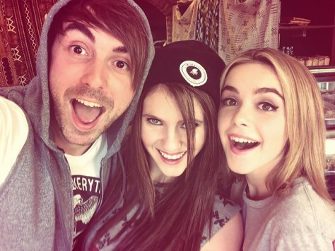"""FAN GIRL - A music obsessed teenager sets out to make a high school film project about her favorite band, All Time Low, in the world premiere of """"Fan Girl,"""" airing on Saturday, October 3rd, 2015 at 9:00PM on ABC Family. (XREPLACEX) ALEX GASKARTH, KARA HAYWARD, KIERNAN SHIPKA"""