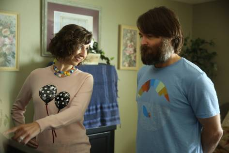 "THE LAST MAN ON EARTH:  Carol (Kristen Schaal, L) and Phil (Will Forte, R) in the ""Is Anybody Out There?"" season two premiere episode of THE LAST MAN ON EARTH airing Sunday, Sept. 27 (9:30-10:00 PM ET/PT) on FOX.  ©2015 Fox Broadcasting Co.  Cr:  Jordin Althaus/FOX"