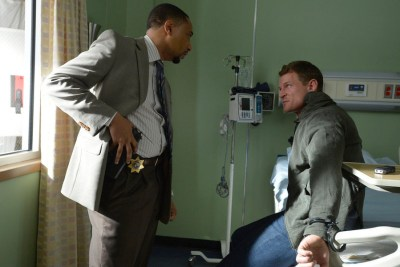 THE PLAYER -- Pilot -- Pictured: (l-r) Damon Gupton as Detective Cal Brown, Philip Winchester as Alex Kane -- (Photo by: Gregory E. Peters/NBC)