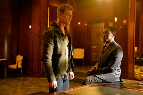 "THE PLAYER -- ""Pilot"" -- Pictured: (l-r) Philip Winchester as Alex, Wesley Snipes as Johnson -- (Photo by: Gregory E. Peters/NBC)"