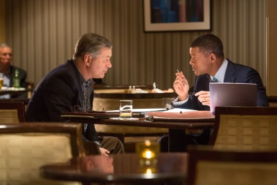 """Alec Baldwin , left, and Will Smith star in Columbia Pictures' """"Concussion."""""""