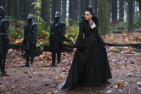 "ONCE UPON A TIME - ""Souls of the Departed"" - Emma, Regina, Mary Margaret, David, Robin, Henry and Gold arrive in the Underworld, on a mission to rescue Hook, only to discover that their search will be more difficult than they had anticipated. The inhabitants of the Underworld-all souls with unfinished business and many with quite personal vendettas-hound our heroes at every turn. Meanwhile, in an Enchanted Forest flashback, a familiar face from the Evil Queen's past returns to present Regina with the perfect birthday gift, on the 100th episode of ""Once Upon a Time,"" SUNDAY, MARCH 6 (8:00-9:00 p.m. EST) on the ABC Television Network. (ABC/Jack Rowand) LANA PARRILLA"