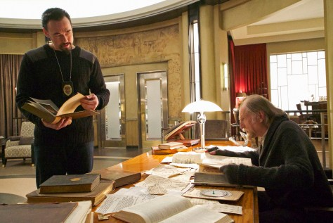 "THE STRAIN -- ""New York Strong"" -- Episode 301(Airs Sunday, August 28, 10:00 pm e/p) Pictured: (l-r) Kevin Durand as Vasiliy Fet, David Bradley as Abraham Setrakian. CR: Michael Gibson/FX"