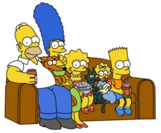 simpsons on the couch