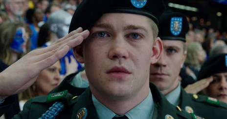 Billy Lynn (Joe Alwyn) in TriStar Pictures' BILLY LYNN'S LONG HALFTIME WALK.