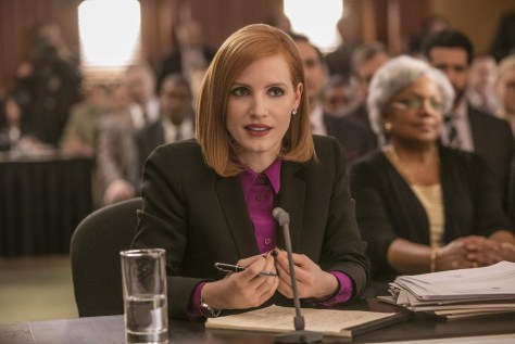 "M3 Jessica Chastain stars in EuropaCorp's ""Miss. Sloane"". Photo Credit: Kerry Hayes © 2016 EuropaCorp Ð France 2 Cinema"
