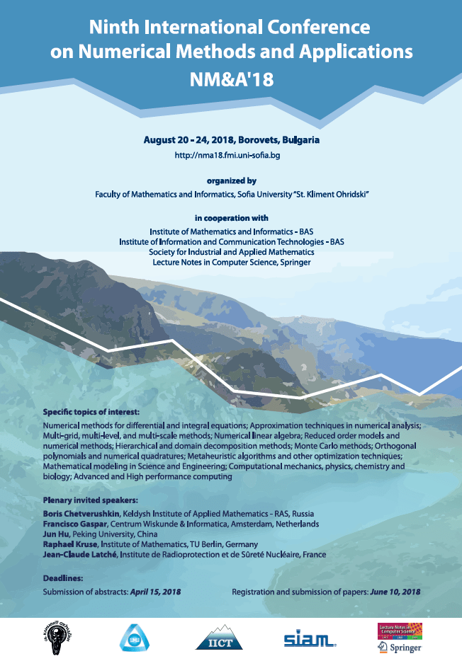 Conference on Numerical Methods and Applications, NM&A'18