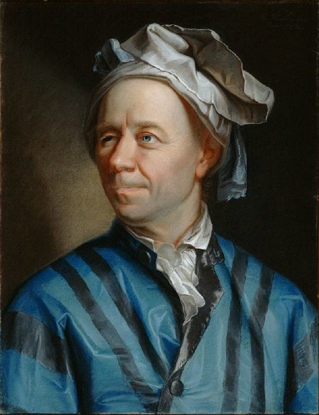 Portrait of Leonhard Euler by Jakob Emanuel Handmann (1753)