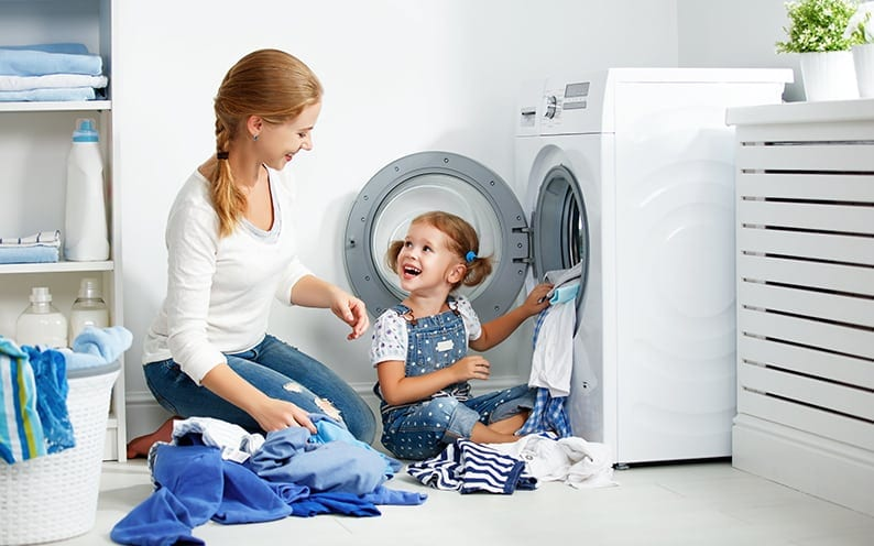 ECM offers appliance repair coverage for laundry room items such as washing machines, clothes dryers, and drying cabinets.