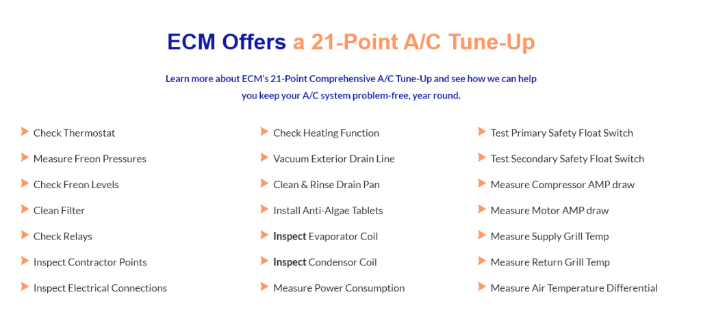 ECM 21-point A/C Tune-Up
