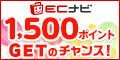ECナビ500ポイントGETのチャンス!