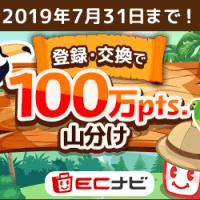 ECナビに登録&広告利用で最大1,500円分のポイントをプレゼント!2019年3月28日まで!
