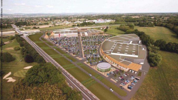 Projet zone commerciale de Crottet, dossier CDAC Immo Mousquetaires