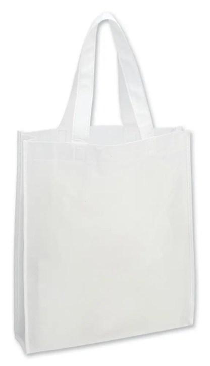 shopper bianco soffietto