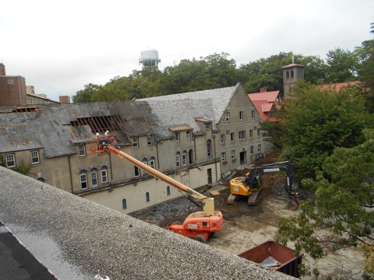 St Francis Friary Under Construction Roof Demolition