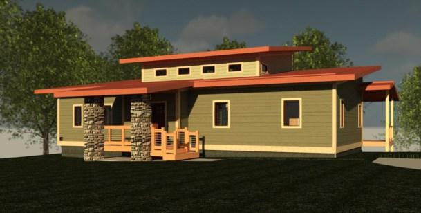 Lake Shore House East View