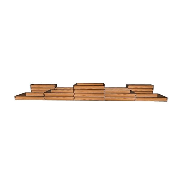 Пристенная грядка из лиственницы / 563x304см