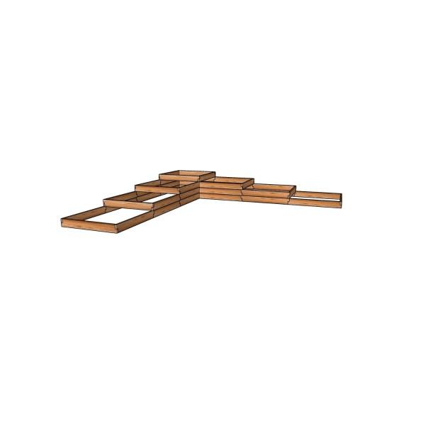 Высокая грядка из лиственницы / 451x451см